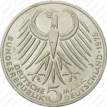 5 марок 1975, Эберт [Германия] - Аверс