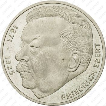 5 марок 1975, Эберт [Германия] - Реверс