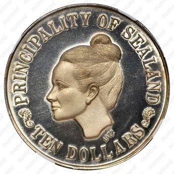 10 долларов 1972 [Силенд] Proof - Аверс