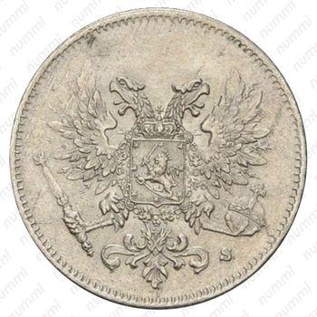 25 пенни 1917, Орел без короны [Финляндия] - Аверс