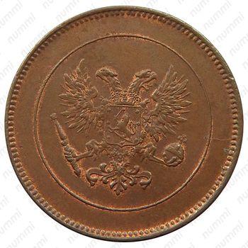 5 пенни 1917, Орел на реверсе [Финляндия] - Аверс
