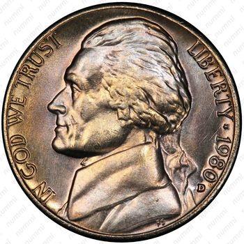 5 центов 1980, Томас Джефферсон - Аверс