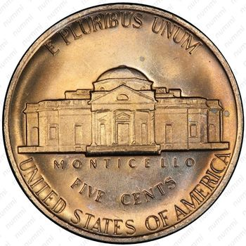 5 центов 1980, Томас Джефферсон - Реверс