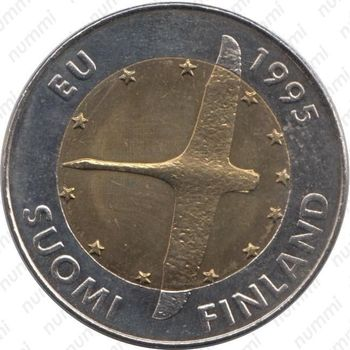 10 марок 1995, лебедь