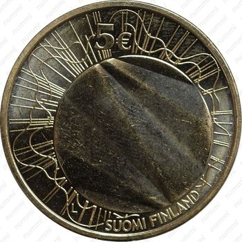 5 евро 2012, Хельсинки - Аверс