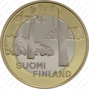 5 евро 2013, некрополь Саммаллахденмяки - Аверс