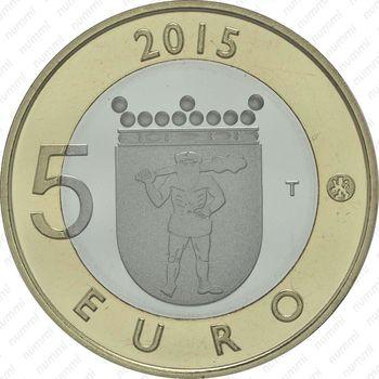 5 евро 2015, северный олень - Аверс