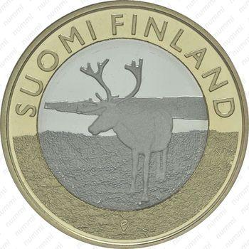 5 евро 2015, северный олень - Реверс