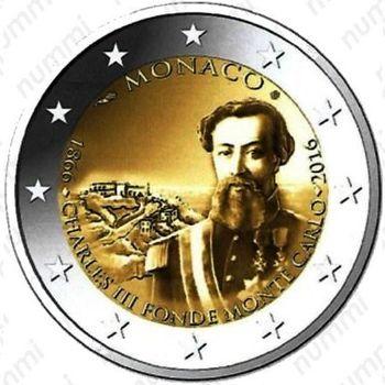 2 евро 2016, основание Монте Карло - Аверс