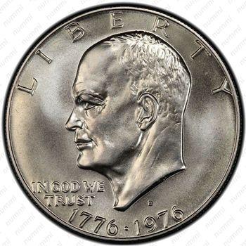 1 доллар 1976, Колокол Свободы, серебро - Аверс