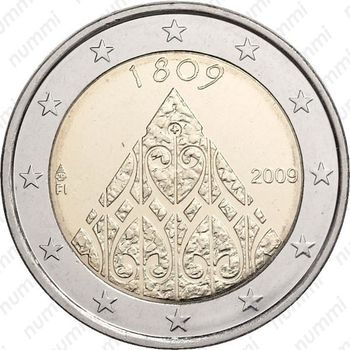 2 euro 2009, автономия Финляндии - Аверс