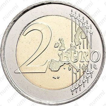2 евро 2001, M, регулярный чекан Испании (Хуан Карлос I) - Реверс