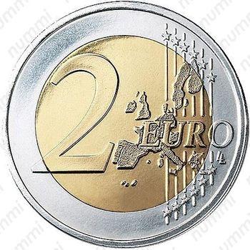 2 евро 2002, регулярный чекан Греции - Реверс