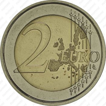 2 евро 2007, регулярный чекан Ватикана (Бенедикт XVI) - Реверс