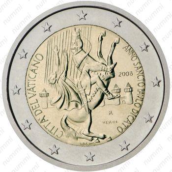 2 евро 2008, Год апостола Павла - Аверс