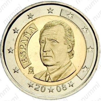 2 евро 2008, М - Аверс