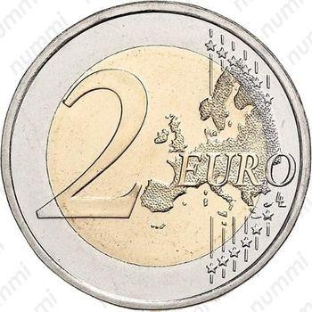 2 евро 2008, М - Реверс