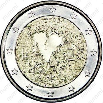 2 евро 2008, права человека (Финляндия) - Аверс
