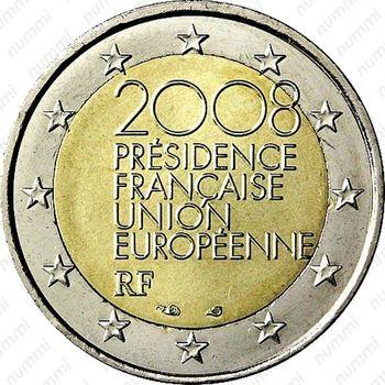 2 евро 2008, председательство Франции - Аверс