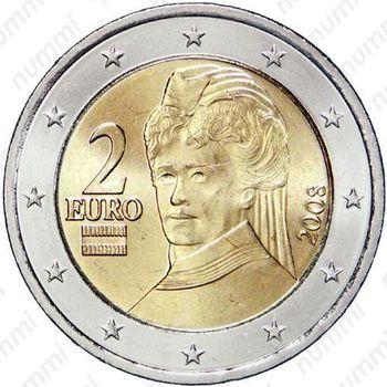 2 евро 2008, регулярный чекан Австрии - Аверс