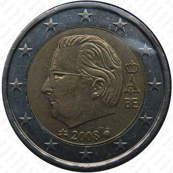 2 евро 2008, регулярный чекан Бельгии, Albert II de Belgique (король Альберт 2) - Аверс