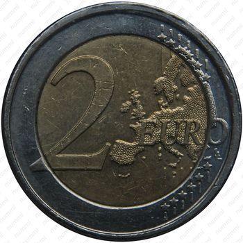 2 евро 2008, регулярный чекан Бельгии, Albert II de Belgique (король Альберт 2) - Реверс