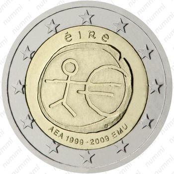 2 евро 2009, 10 лет союзу (Ирландия) - Аверс
