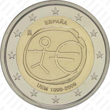 2 евро 2009, 10 лет союзу (Испания) - Аверс