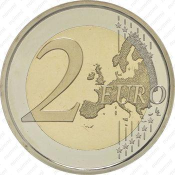 2 евро 2009, 10 лет союзу (Испания) - Реверс
