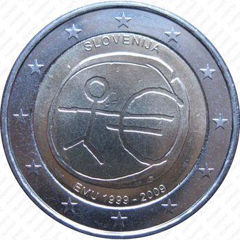 2 евро 2009, 10 лет союзу (Словения) - Аверс