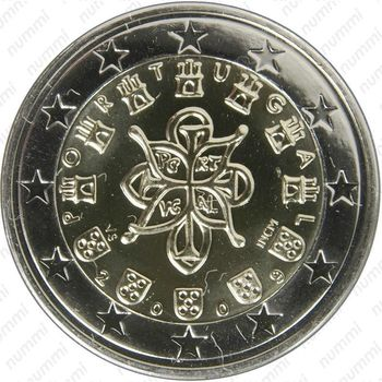 2 евро 2009, регулярный чекан Португалии - Аверс