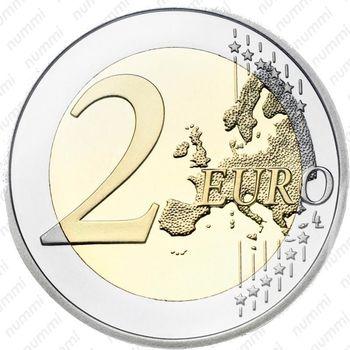 2 евро 2010, ботанический сад - Реверс