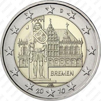 2 евро 2010, Бремен - Аверс