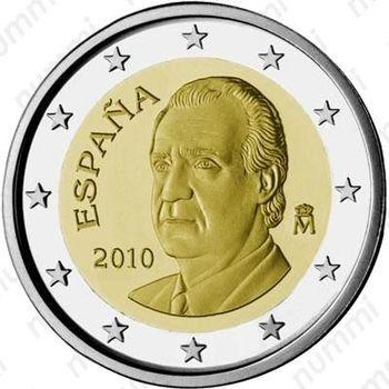 2 евро 2010, М - Аверс