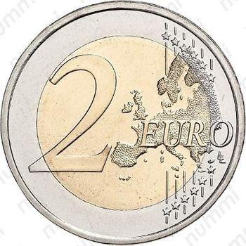 2 евро 2010, М - Реверс