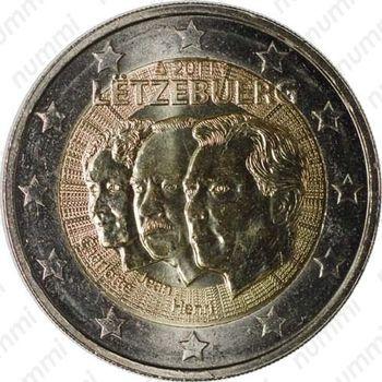 2 евро 2011, 50 лет назначения наследного Великого герцога Люксембурга Жана титулом «лейтенант-представитель» - Аверс