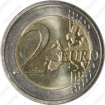 2 евро 2011, 50 лет назначения наследного Великого герцога Люксембурга Жана титулом «лейтенант-представитель» - Реверс