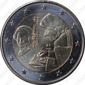 2 евро 2011, Эразм Роттердамский - Аверс