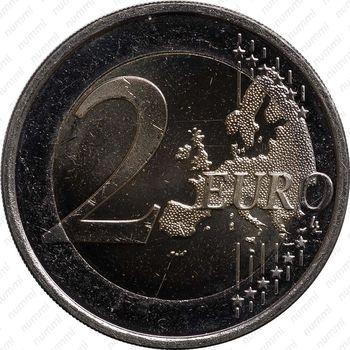 2 евро 2011, лебедь - Реверс