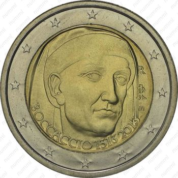 2 евро 2013, Джованни Боккаччо - Аверс
