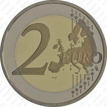 2 евро 2013, колокольня церкви Клеригуш - Реверс