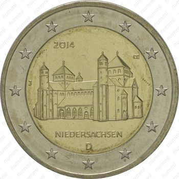 2 евро 2014, церквь Св. Михаила - Аверс
