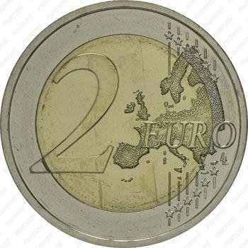 2 евро 2014, церквь Св. Михаила - Реверс