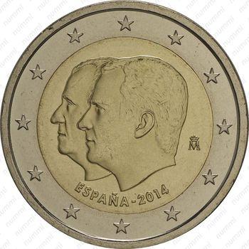 2 евро 2014, Филипп VI - Аверс