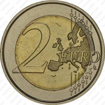 2 евро 2014, Первая Мировая Война - Реверс