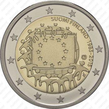 2 евро 2015, 30 лет флагу Европы (Финляндия) - Аверс