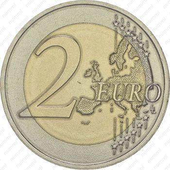 2 евро 2015, Чёрный аист - Реверс