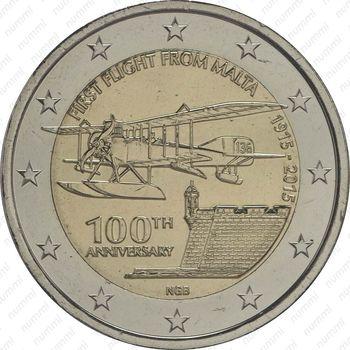 2 евро 2015, самолёт - Аверс