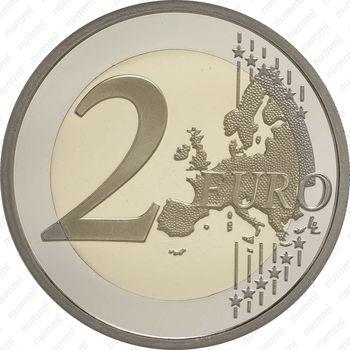 2 евро 2015, замок на скале Монако - Реверс