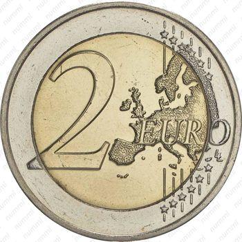 2 евро 2016, мост Великой герцогини Шарлотты - Реверс